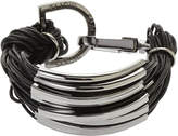 Saachi Black & Gunmetal Multi Strand Bracelet