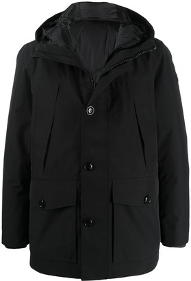 Woolrich Long Sleeve Hooded Padded Coat