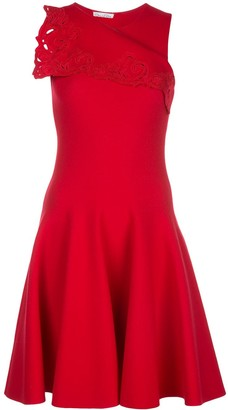 Oscar de la Renta Fold-Over Sleeveless Dress