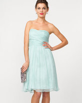 Le Château Silk Chiffon Strapless Cocktail Dress