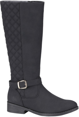 Weeboo Women's Casual boots BLACK - Black Fiorina Quilted Boot - Women