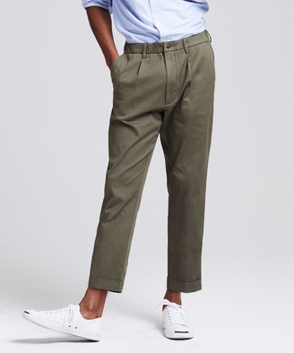 Todd Snyder The Pleated Pant in Olive Oil