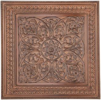 Uma Enterprises Carved Wooden Wall Panel