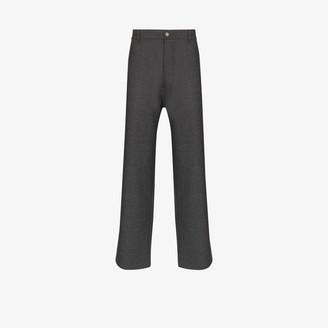 Maison Margiela High-Waist Straight-Leg Trousers
