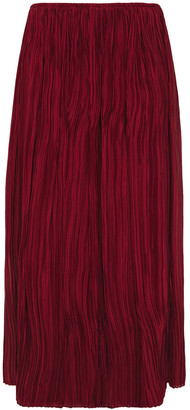 The Row Plisse-silk Midi Skirt