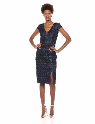 JS Collections Women's Chevron Ribbon Dress
