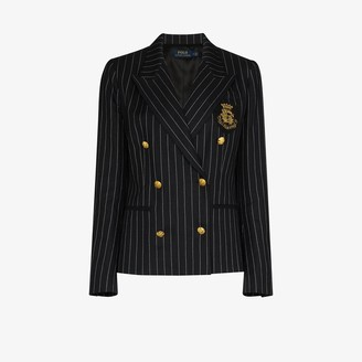 Polo Ralph Lauren Double-Breasted Pinstripe Blazer