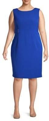 Kasper Plus Sleeveless Sheath Dress