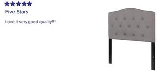 "Andover Millsâ""¢ Fuente Upholstered Panel Headboard Andover Millsa Size: King, Color: Black"