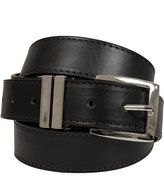 Yours Clothing BadRhino Plain Black Bonded Leather Jean Belt