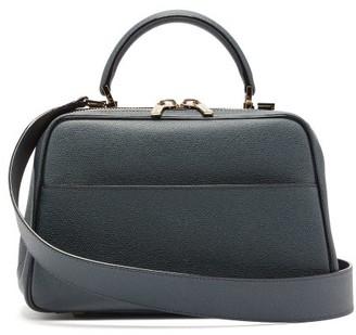Valextra Serie S Medium Grained Leather Bag - Navy