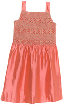 Brooks Brothers Girls' Pink Smocked Silk Tank Dress