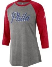 Jordan Philadelphia 76ers Women's Three Quarter Statement Raglan Shirt