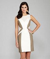 Marielle Ponte & Faux-Leather Dress