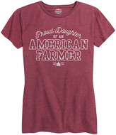 Case Ih Agriculture Case IH Agriculture Women's Tee Shirts HEATHER - Heather Wine 'Proud Daughter of an American Farmer' Relaxed-Fit Tee - Women