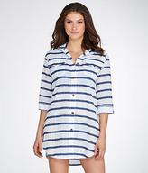 Dotti Tulum Stripe Woven Shirt Cover-Up
