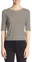Vince Striped Cropped Tee