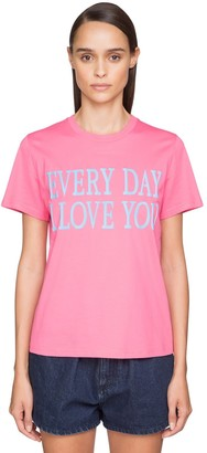 Alberta Ferretti 'every Day I Love You' Cotton T-shirt