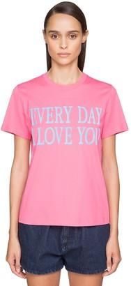 Alberta Ferretti 'every Day I Love You' Cotton T-Shirt
