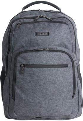 """Kenneth Cole Reaction Heathered Triple Compartment 17.3"""" Computer Business Backpack"""