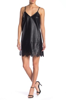 Sugar Lips Cooper Faux Leather Cami Dress
