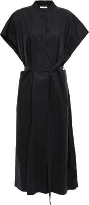 Co Belted Cotton-blend Poplin Midi Shirt Dress