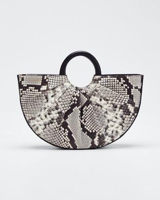 DLYP Python-Print Mini Top Handle Tote Bag