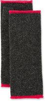 Neiman Marcus Wool-Blend Fingerless Gloves, Charcoal