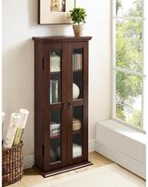 Walker Edison Furniture Company 41 in. Wood Media Tower Cabinet in Traditional Brown
