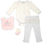 Cutie Pie Baby Pale Yellow & Pink 'Fairy Princess' Layette Set - Infant