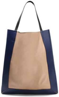 Marni Glossed And Smooth-leather Tote