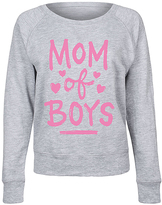 Athletic Heather 'Mom Of Boys' Slouchy Pullover - Women