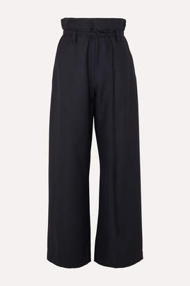 Marni Belted Wool-twill Pants - Navy
