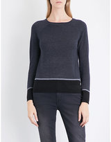 The White Company Colourblock hem jumper
