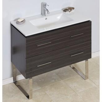 "American Imaginations 36"" Single Modern Bathroom Vanity Set Hardware Finish: Chrome"