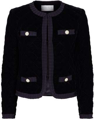 Claudie Pierlot Quilted Velvet Jacket