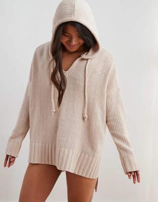 Aerie Chenille Oversized Hooded Sweater