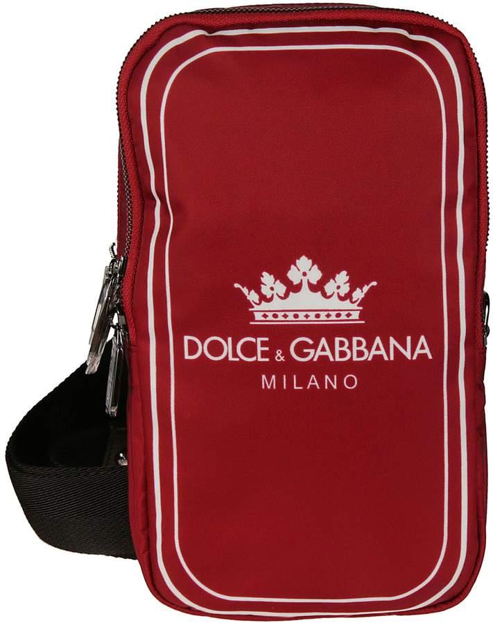 Dolce & Gabbana Logo Print Shoulder Bag