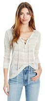 Lucky Brand Women's Lace up Pullover Sweater