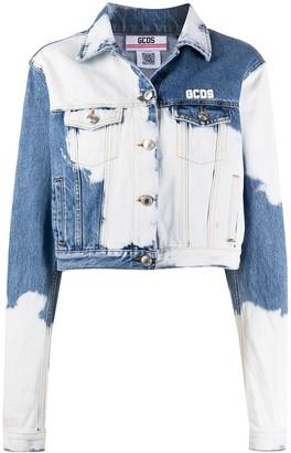 GCDS Bleached-Effect Denim Jacket