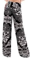 O Uptown Women's wide leg high waist palazzo pants (Meduim, )