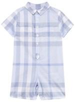 Burberry Pale Blue Check Shirt Romper
