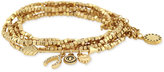 BCBGeneration Gold-Tone Beaded Multi-Layer Lucky Charm Bracelet