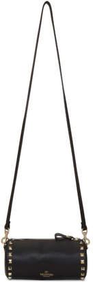 Valentino Black Garavani Rockstud Cylinder Shoulder Bag
