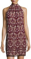 Max Studio Floral-Printed Sleeveless Shift Dress, Multi
