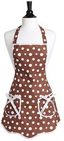 Jessie Steele Brown and White Retro Polka Dot Ava Apron