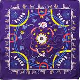 Cyclades Silk Scarf Animal Kingdom Purple