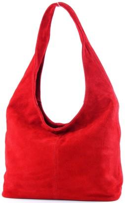 modamoda de - ital. Leather Bag Shoulder Bag Shoulder Bag Damentasche Wildleder T150