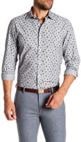 Ganesh Balloon Print Modern Fit Spread Collar Shirt