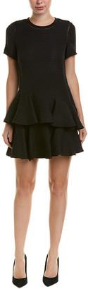 Rebecca Taylor Silk-Trim Jacquard A-Line Dress